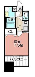 エンクレスト博多駅前III(1403)[1403号室]の間取り