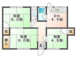 [タウンハウス] 岡山県倉敷市新田 の賃貸【岡山県 / 倉敷市】の間取り