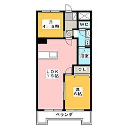 メゾン千秀[5階]の間取り