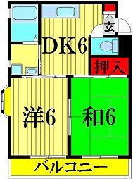 埼玉県さいたま市緑区東大門1丁目の賃貸マンションの間取り