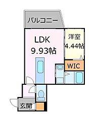 札幌市営南北線 中島公園駅 徒歩17分の賃貸マンション 5階1LDKの間取り