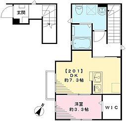 Maison Koharu メゾンコハル[201号室号室]の間取り