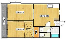 カーサ京町[205号室号室]の間取り