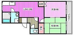 シャンクレール弐番館[2階]の間取り