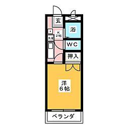 フレンズシティ堀田[3階]の間取り