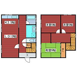 [一戸建] 北海道札幌市豊平区西岡二条11丁目 の賃貸【/】の間取り