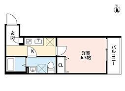 クラリスクオーレ(tateru)[2階]の間取り