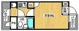 「デトムワン北山レディース」[2階]の間取り