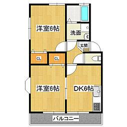 KMS・S4 A-2[1階]の間取り