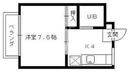 コーポ安井[101号室号室]の間取り