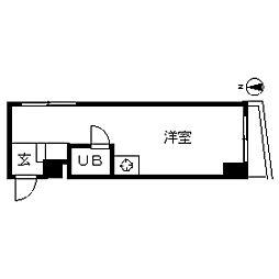 TOP・新宿薬王寺[0304号室]の間取り