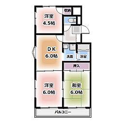 青山マンション[205号室]の間取り