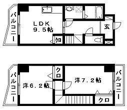 ティアラ植松[5階]の間取り
