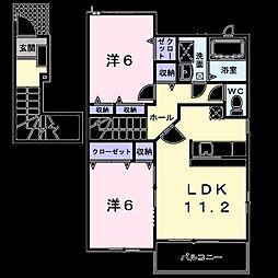 グラート A棟[0201号室]の間取り
