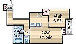 Comfort Flats曽根東町[202号室]の間取り