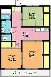 けんこうマンション[204号室]の間取り