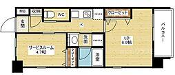 スプランディッド新大阪III[3階]の間取り