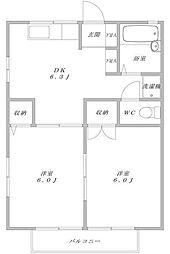 サンコート東戸塚D[2階]の間取り