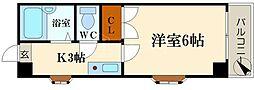 ラパンジール恵美須III[2階]の間取り