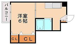 博多駅南ヒルズ[2階]の間取り