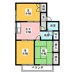 タウニーIKI[1階]の間取り