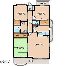 ロイヤルパークマンション[202号室]の間取り