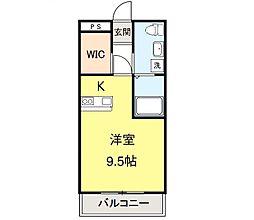 みやまマンション[205号室]の間取り