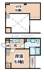 クレストヴィラ[2階]の間取り