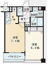 赤坂シャトー松風[6階]の間取り