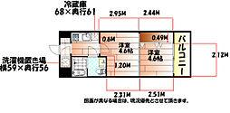 No.47 PROJECT2100小倉駅[4階]の間取り