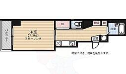 WOGUE OHTEMON 4階1Kの間取り