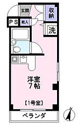 フレクション浦和田島[101号室]の間取り