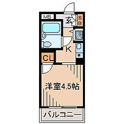 神奈川県横浜市神奈川区片倉4丁目の賃貸マンションの間取り