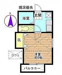 神奈川県相模原市中央区陽光台3丁目の賃貸アパートの間取り
