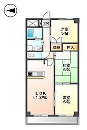 ケルン白壁[2階]の間取り
