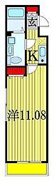 JR総武線 船橋駅 徒歩22分の賃貸アパート 1階1Kの間取り