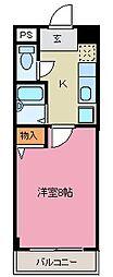 荒本駅徒歩6分 クリスタル・ハイツ[308号室]の間取り