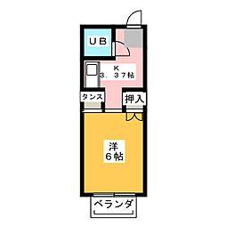 リバーハイツ[2階]の間取り