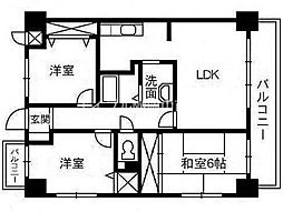 スカール富田公園[3階]の間取り