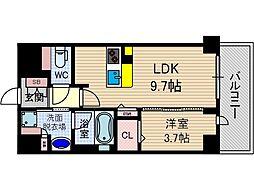 ぺスカード別院[2階]の間取り