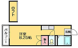 ルートピア篠栗[2階]の間取り