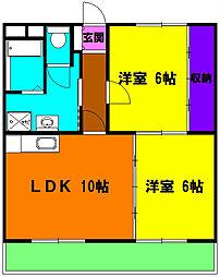 静岡県浜松市中区向宿2丁目の賃貸マンションの間取り