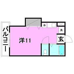 GEN持田館[202 号室号室]の間取り