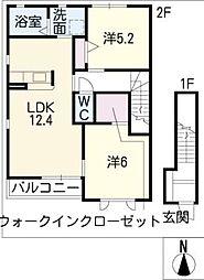 サルテール A棟[2階]の間取り