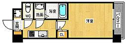 JR東西線 加島駅 徒歩1分の賃貸マンション 3階1Kの間取り