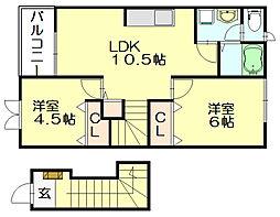 ネクサス[2階]の間取り