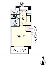 グレイス大須[4階]の間取り