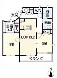 ディアコート徳川山[1階]の間取り