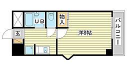 兵庫県姫路市本町の賃貸マンションの間取り