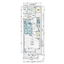 名古屋市営名城線 矢場町駅 徒歩8分の賃貸マンション 8階1Kの間取り